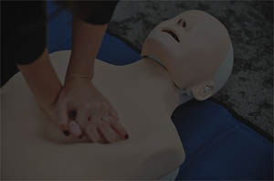 Chest Compressions On Mannequin