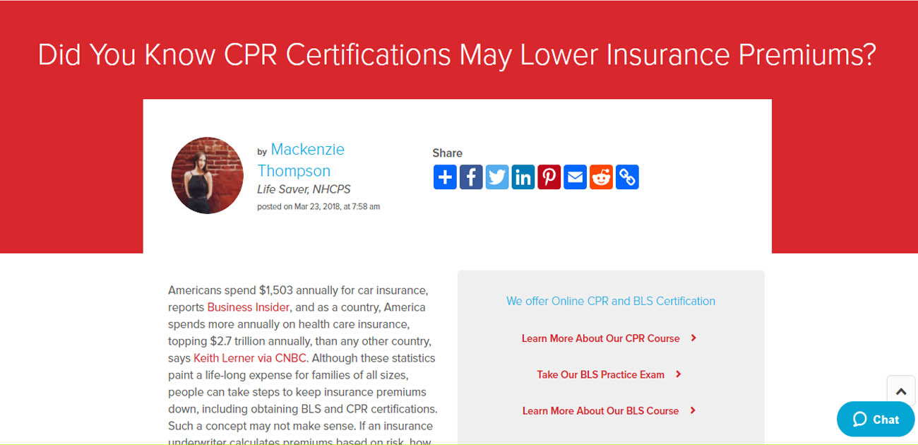 Did You Know Cpr Certifications May Lower Insurance Premiums